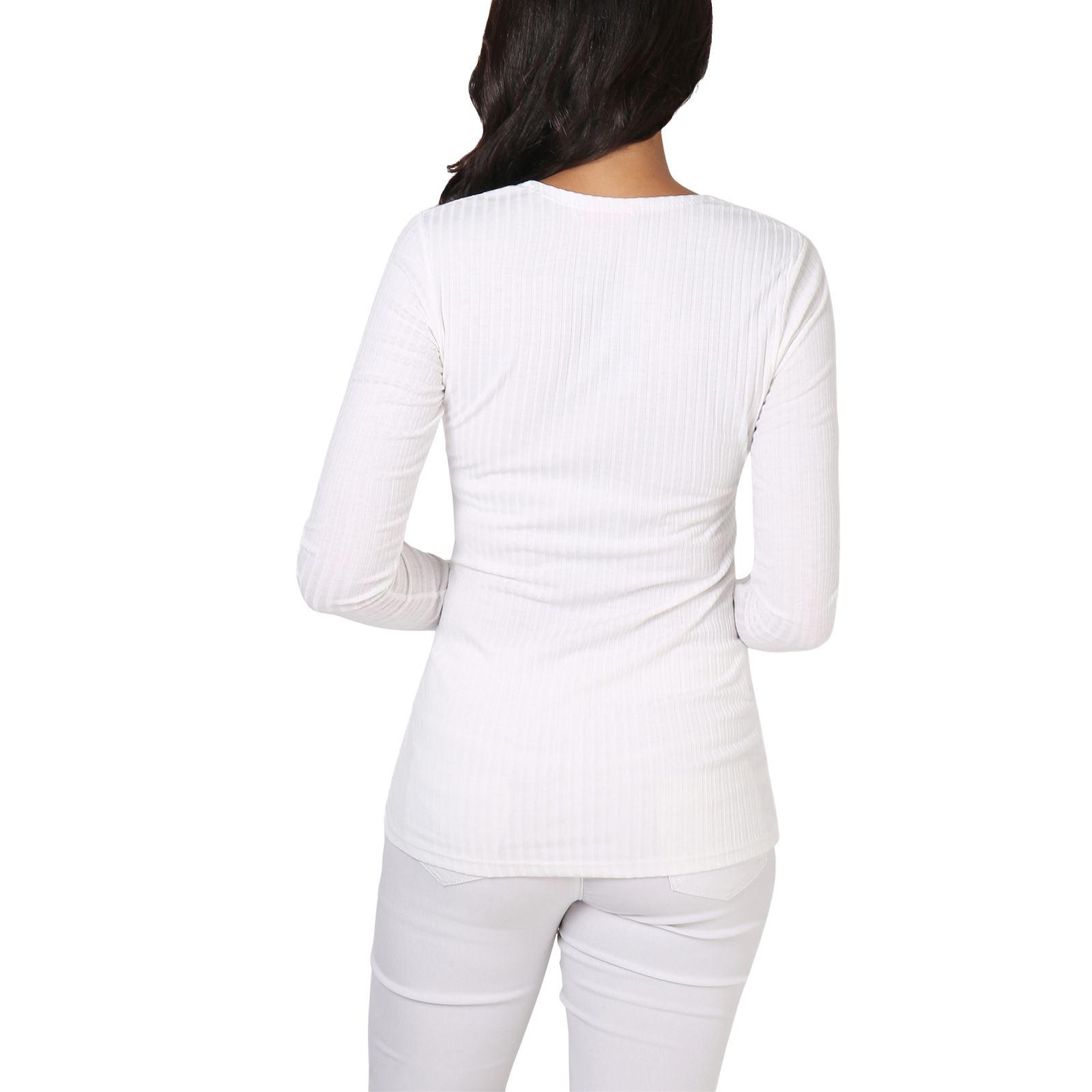 Da Donna con pulsante Cardigan V Girocollo Sottile Maglione Maniche Lunghe Design semplice