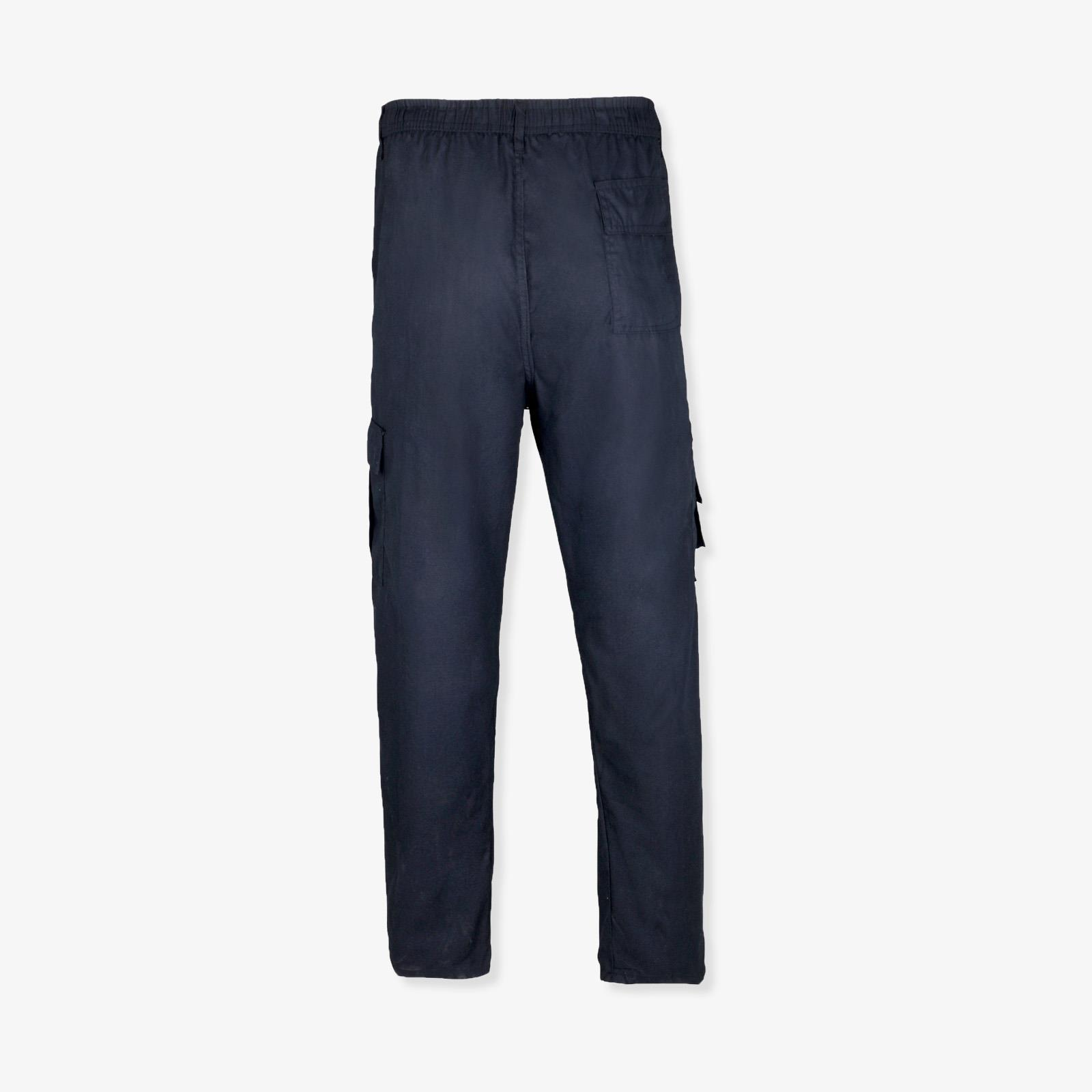 Mens Work Cargo Trousers Chinos Plain Casual Cotton Regular Combat Pants Pockets