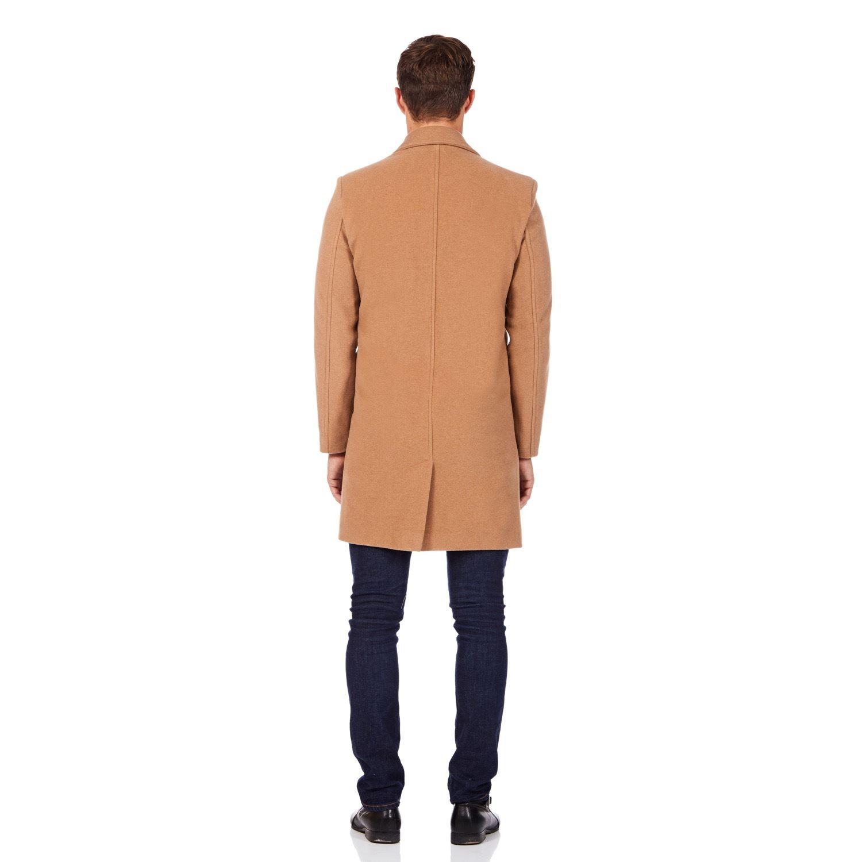 De La Creme MAN Men/'s Single Breasted Wool Mix Overcoat