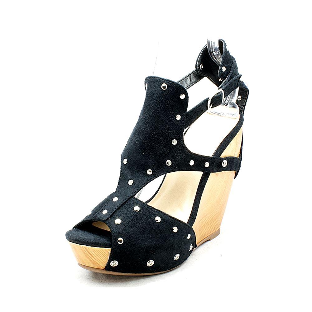 shoes Womens platform high heel studded wedge sandals