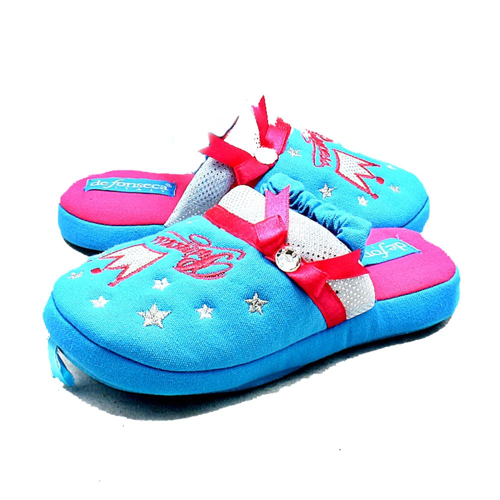 Girls Blue or Pink Princess crown slippers CLEARANCE