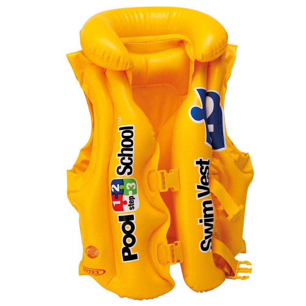 Intex Inflatable Childs Kids Pool School Deluxe Swim Buoyancy Vest