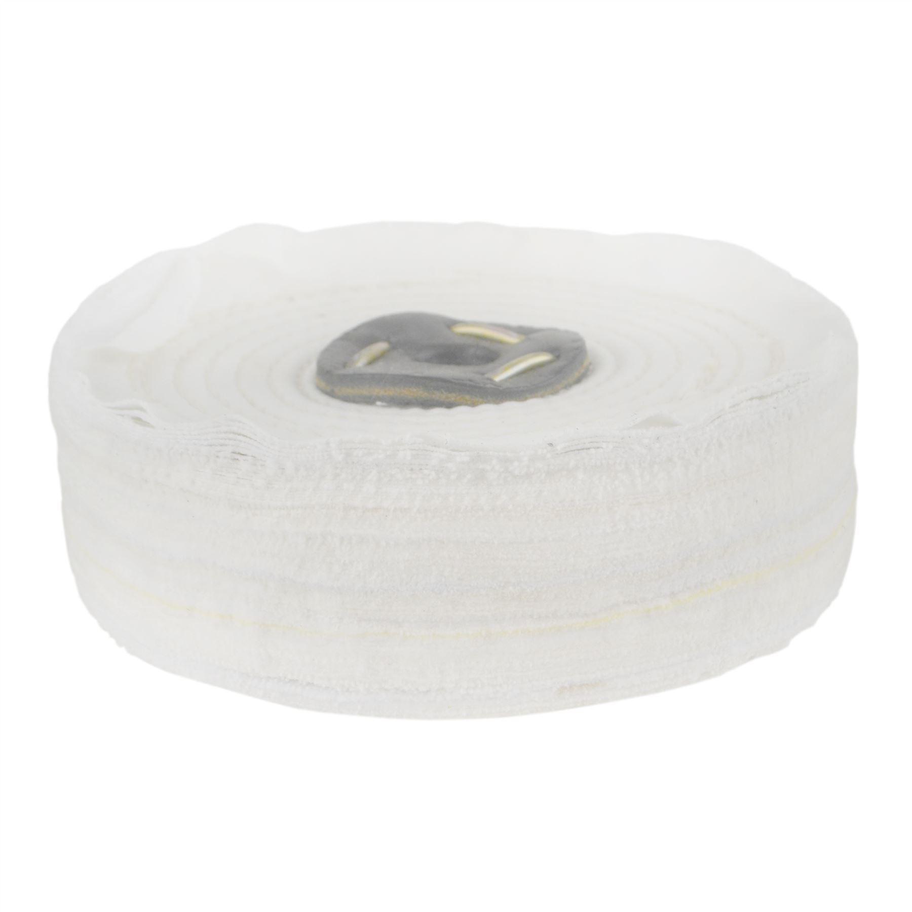 "6/"" Coarse Fine Polishing Mop Buffing Pad Metal Scratch Removal Medium"