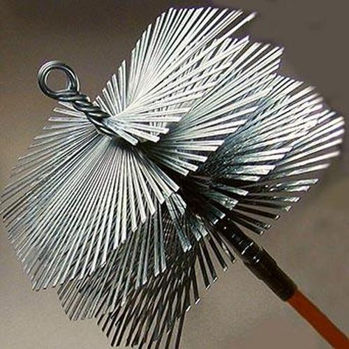 """Worcester Master Sweep Flat Wire Chimney Brush 8/"""" 3//8/"""" Pipe Thread Standard"""