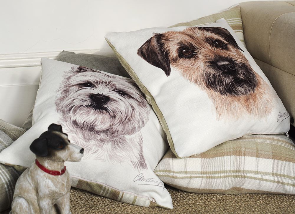 Evans Lichfield WaggyDogz Polyester Cushion in Various Dog Designs