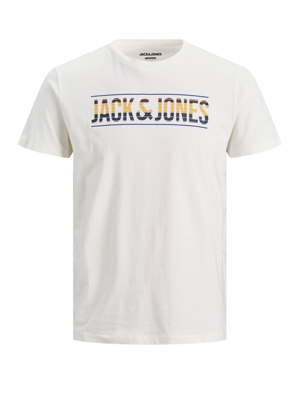 Mens T shirt Jack /& Jones Slim Fit Crew Neck Short Sleeve Cotton Tee T-Shirt Top