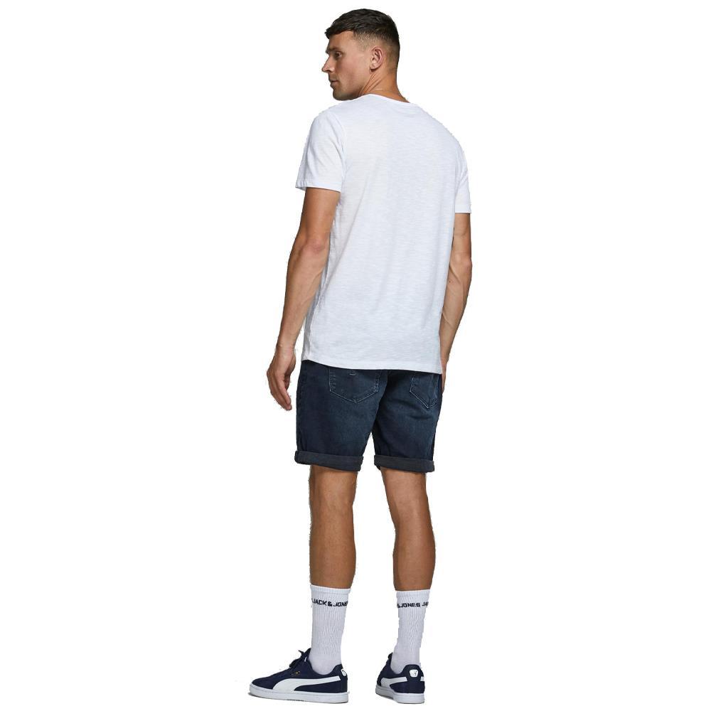 Jack and Jones Men/'s Shorts Denim Regular Fit Turn Up Beach Button Fly Half Pant