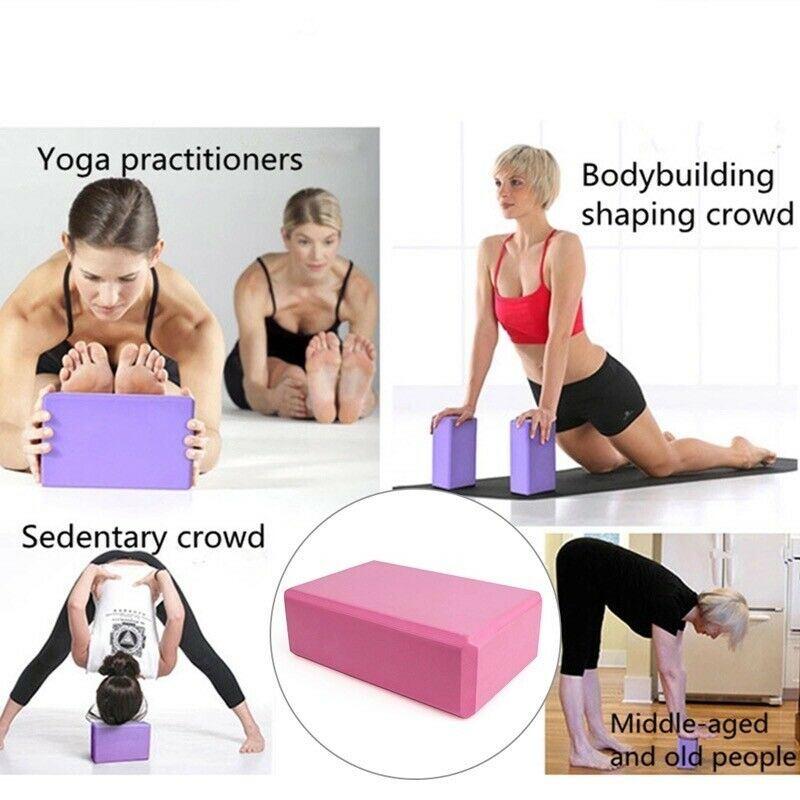 Yoga Pilates Foam Block Gym Fitness Brick Stretch Sport Home Exercise Non Slip