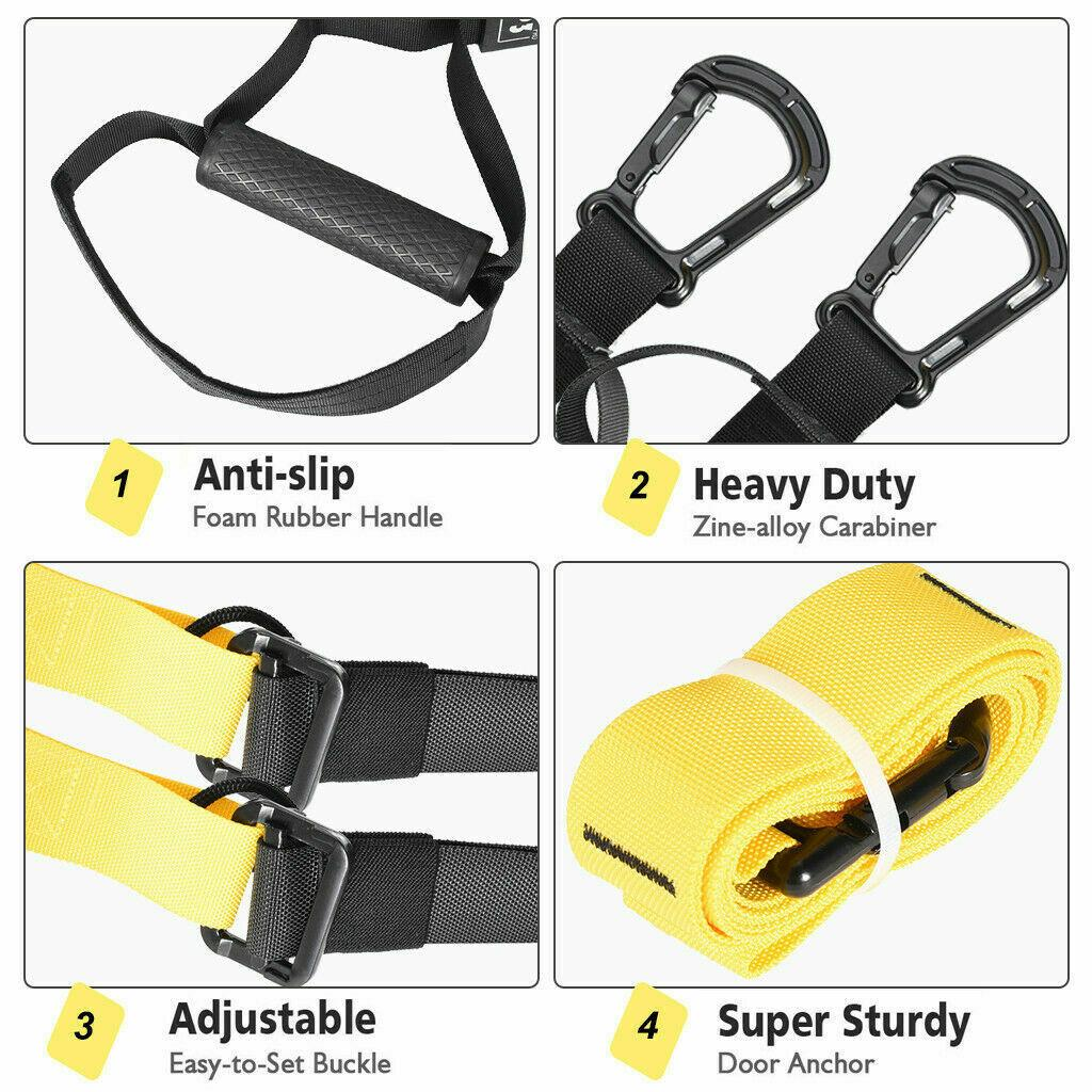 PRO Suspension trainer straps Home Gym Fitness Resistance bands for TRX training