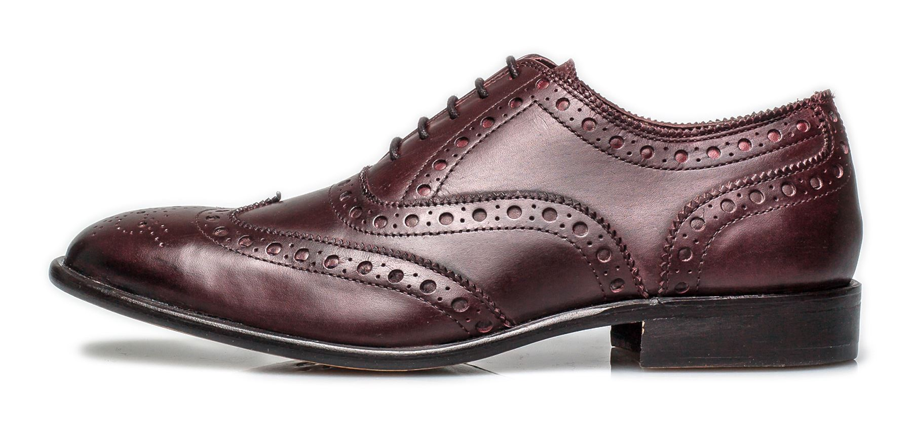 London Brogues Mens Leather Sole Bucanon Brogue Oxford Shoes