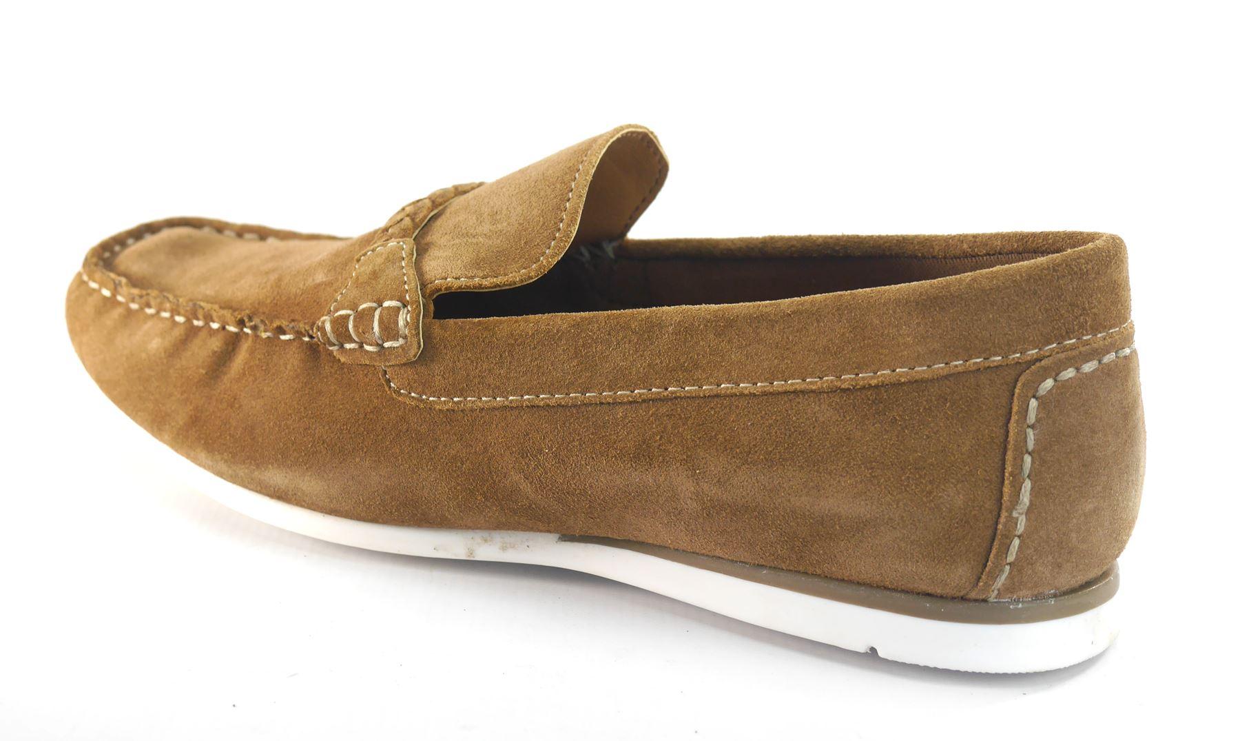Silver Street Warren Suede Casual Loafer Boat Mens Slip On Shoes