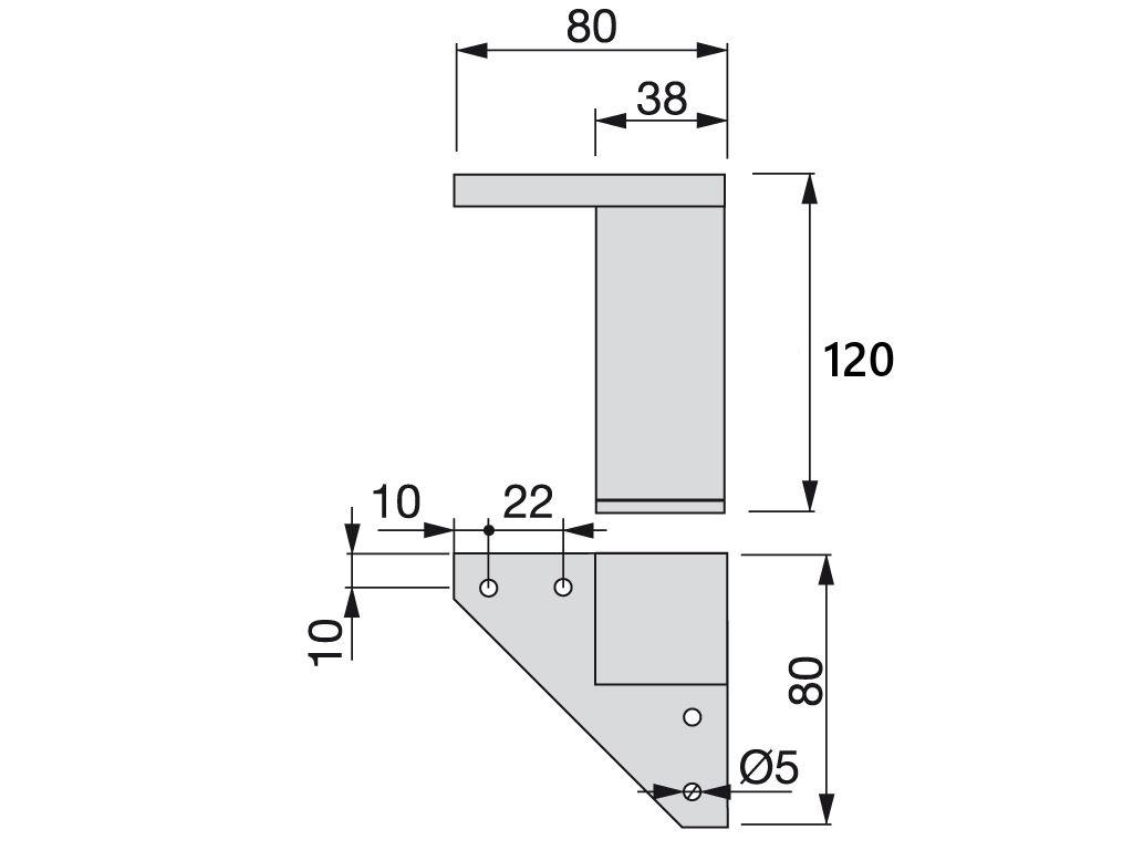 Gambe in plastico Mobili Piedi per divani sedie sgabelli Armadi 12-120mm