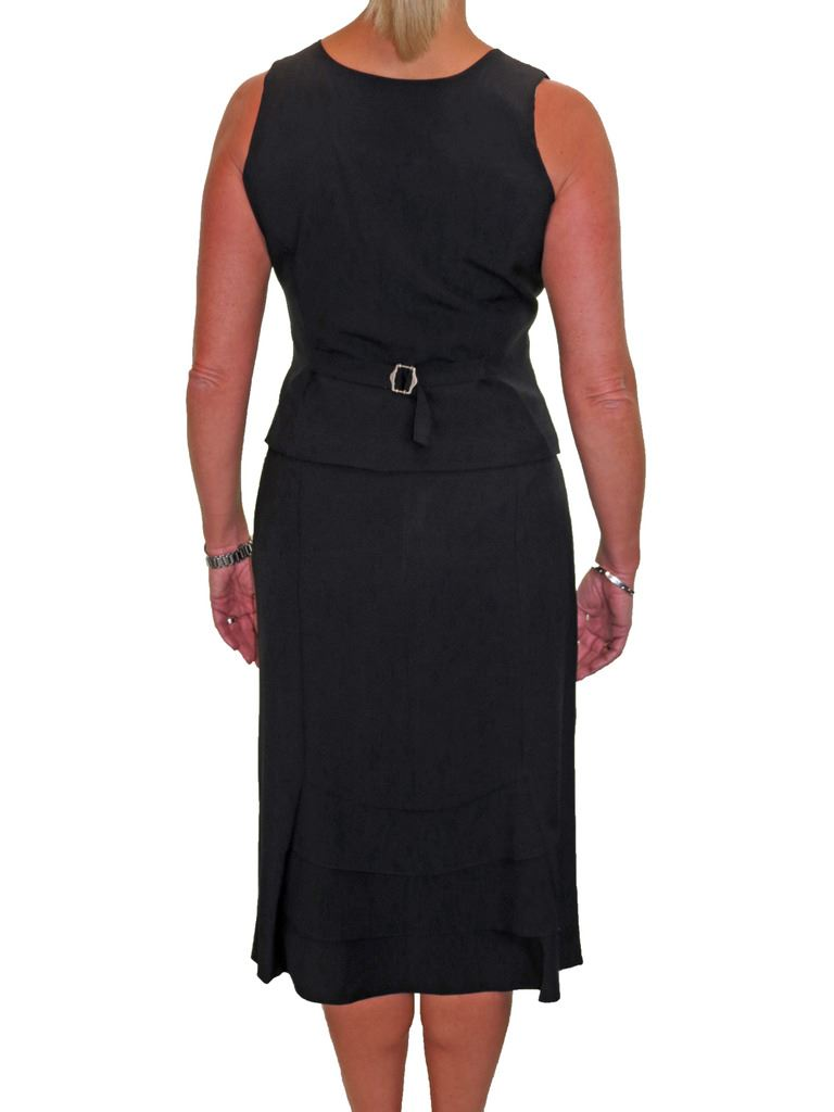 Womens Fully Lined Waistcoat Skirt Suit Washable Work Office Clubbing 10-20