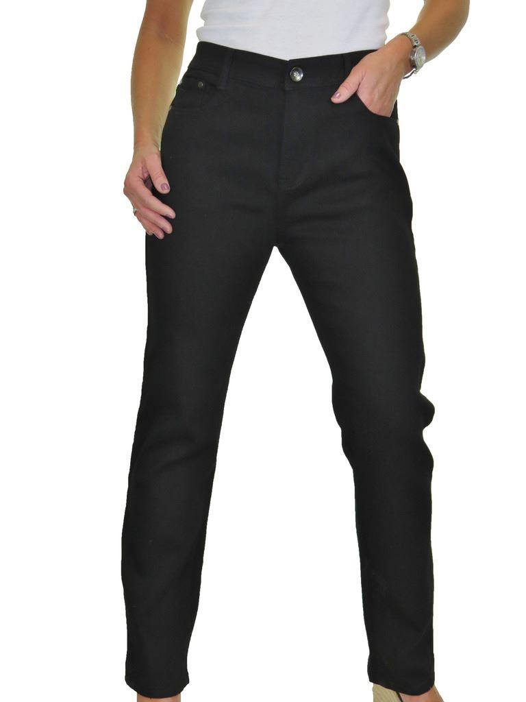 Donna Taglie Forti Vita Alta Gamba Dritta Jeans Stretch Tinta Unita 14-24