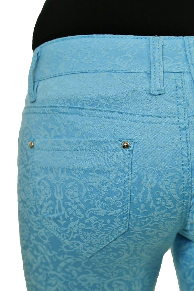 Damas Elastizadas Cintura Baja Relieve rebaño ajuste apretado Jeans 6-14