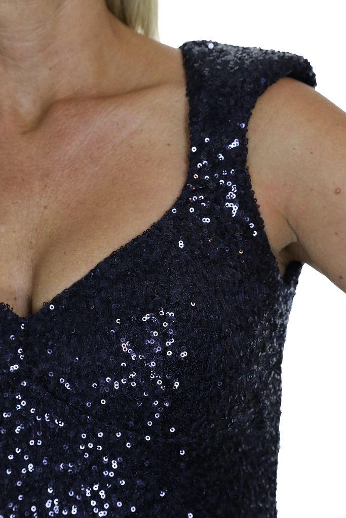 Señoras Vestido Mini cuerpo Elástico Lentejuelas Acolchado Taza 6-12