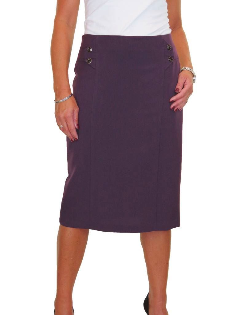 Ladies Business Lined Pencil Skirt Washable 10-20