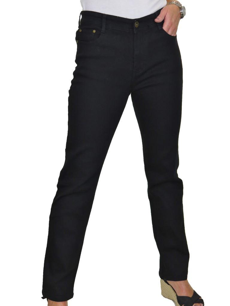 Jeans gamba dritta da donna buona Stretch Tinta Unita Nuovo 10-20