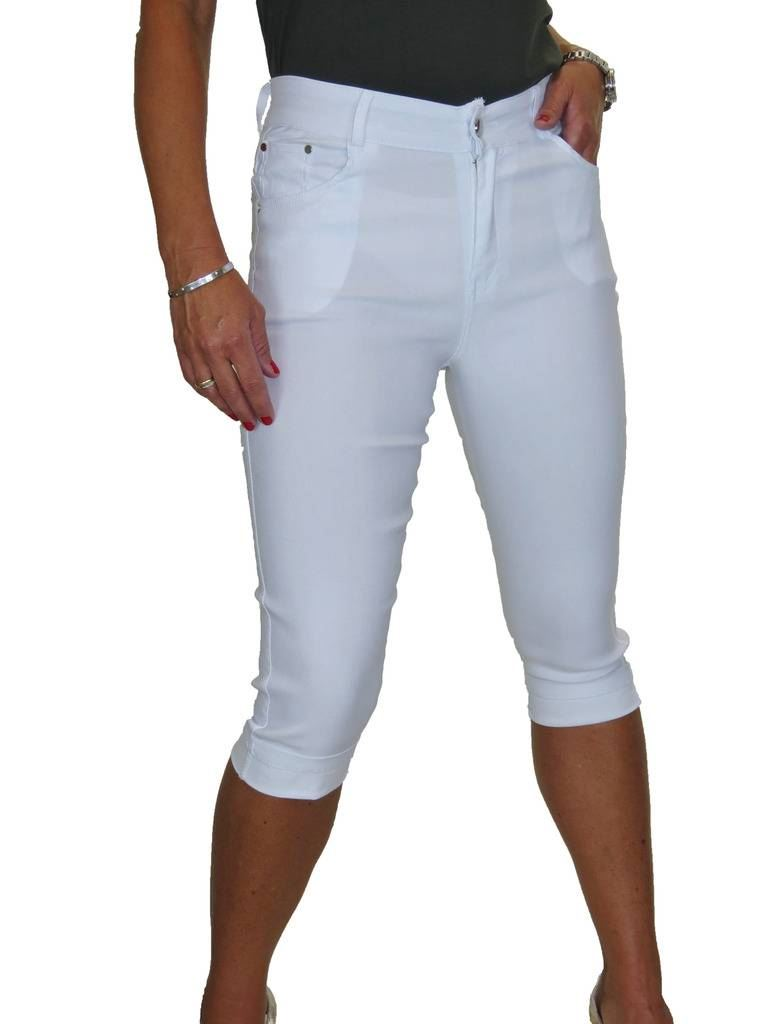 ICE Skinny Stretch Pedal Pusher Capri Trousers Turn Up Cuff Jeans Style