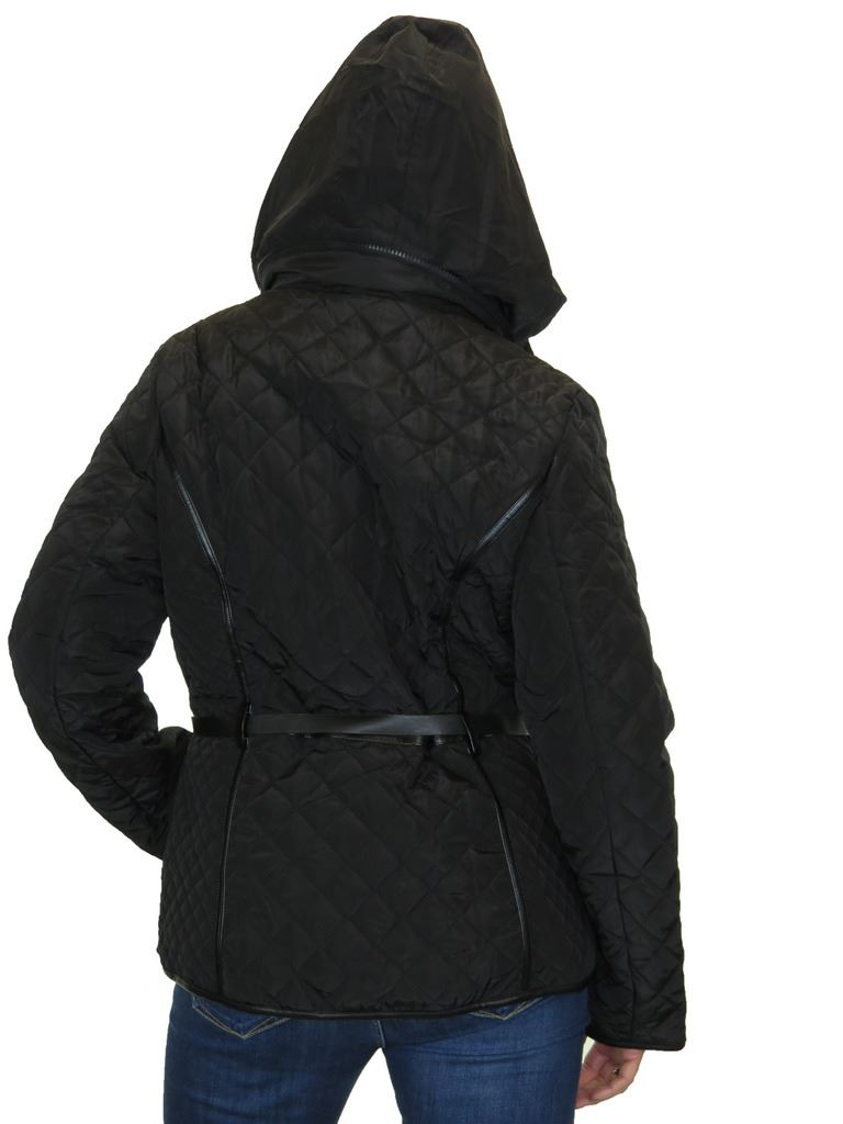 Hood Lightweight With Belt 12-22 ICE Plus Size Quilted Jacket