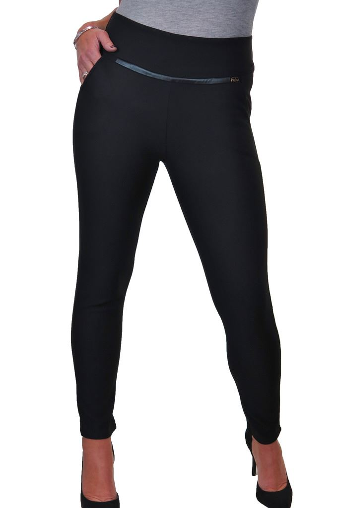 Spandex Leggings Trousers With Front Detail 8-20 ICE 1550