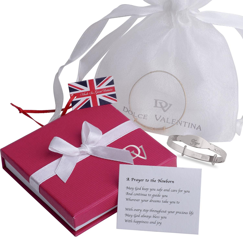 Holly Custom Bracelet Newborn Baby Christening Gift Personalised Bangle Engraved