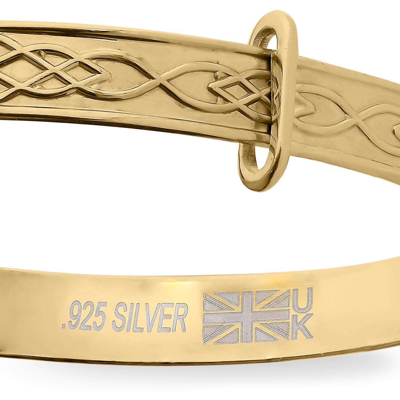 Daisy Custom Bracelet Newborn Baby Christening Gift Personalise Bangle Engraved