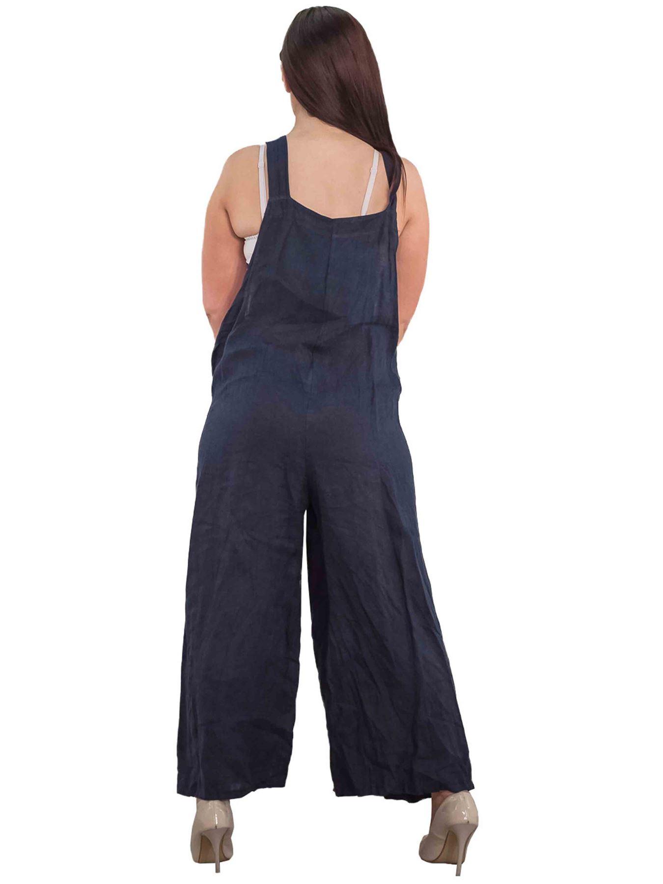 Tuta da Donna Dettaglio Bottone semplice Donna Casual Salopette Pantaloni Pantalone globale