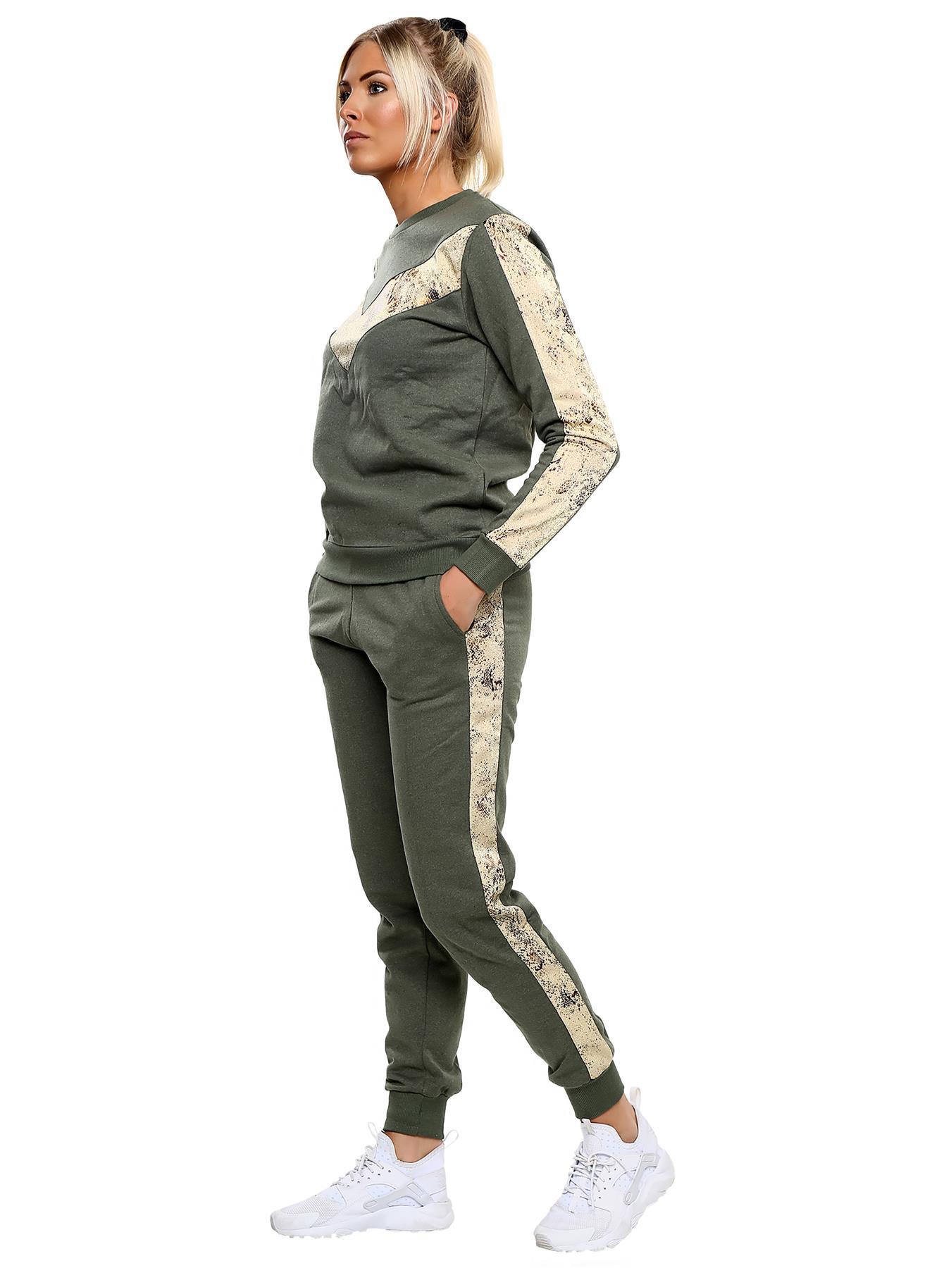 Womens 2 PCS Tracksuits Set Tops Pants Ladies Joggers Active Sport Loungewear UK