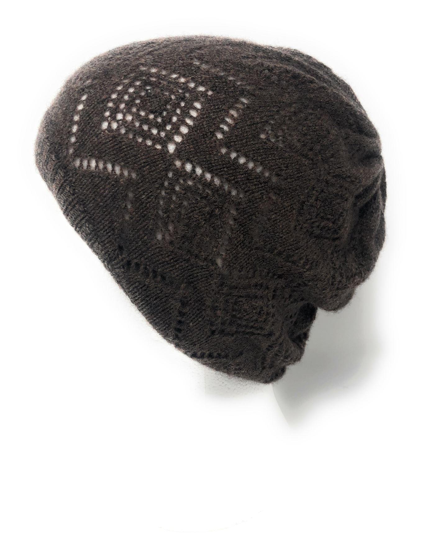 100/% cashmere Lacy Knit Femmes Bonnet-Couleurs diverses
