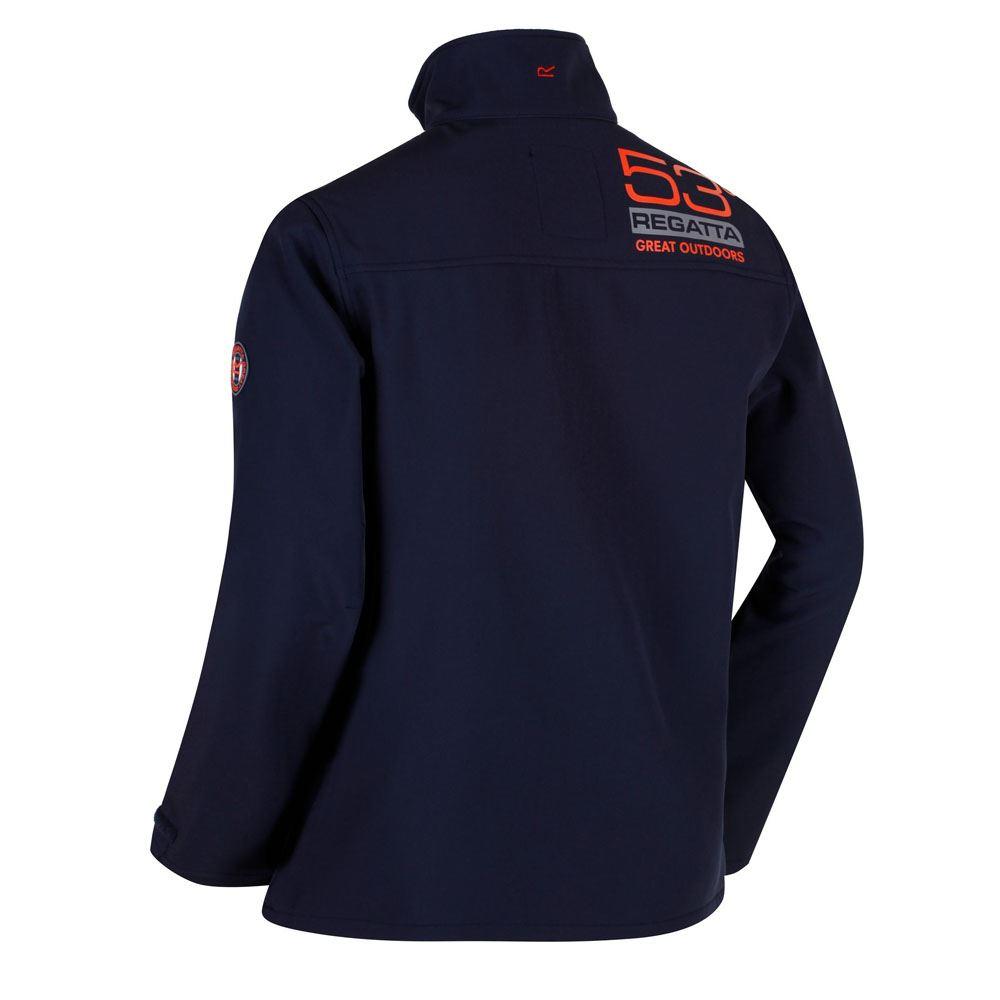 Regatta Mens Callen Wind Resistant Softshell Warm Outdoor Work Jacket Navy