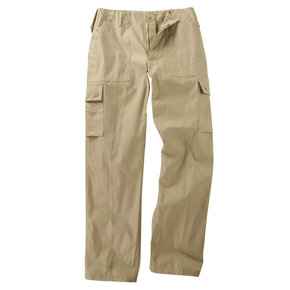 Combat Trouser Cargo US Army Military Style Work Pant 6 Pocket Beige Sand