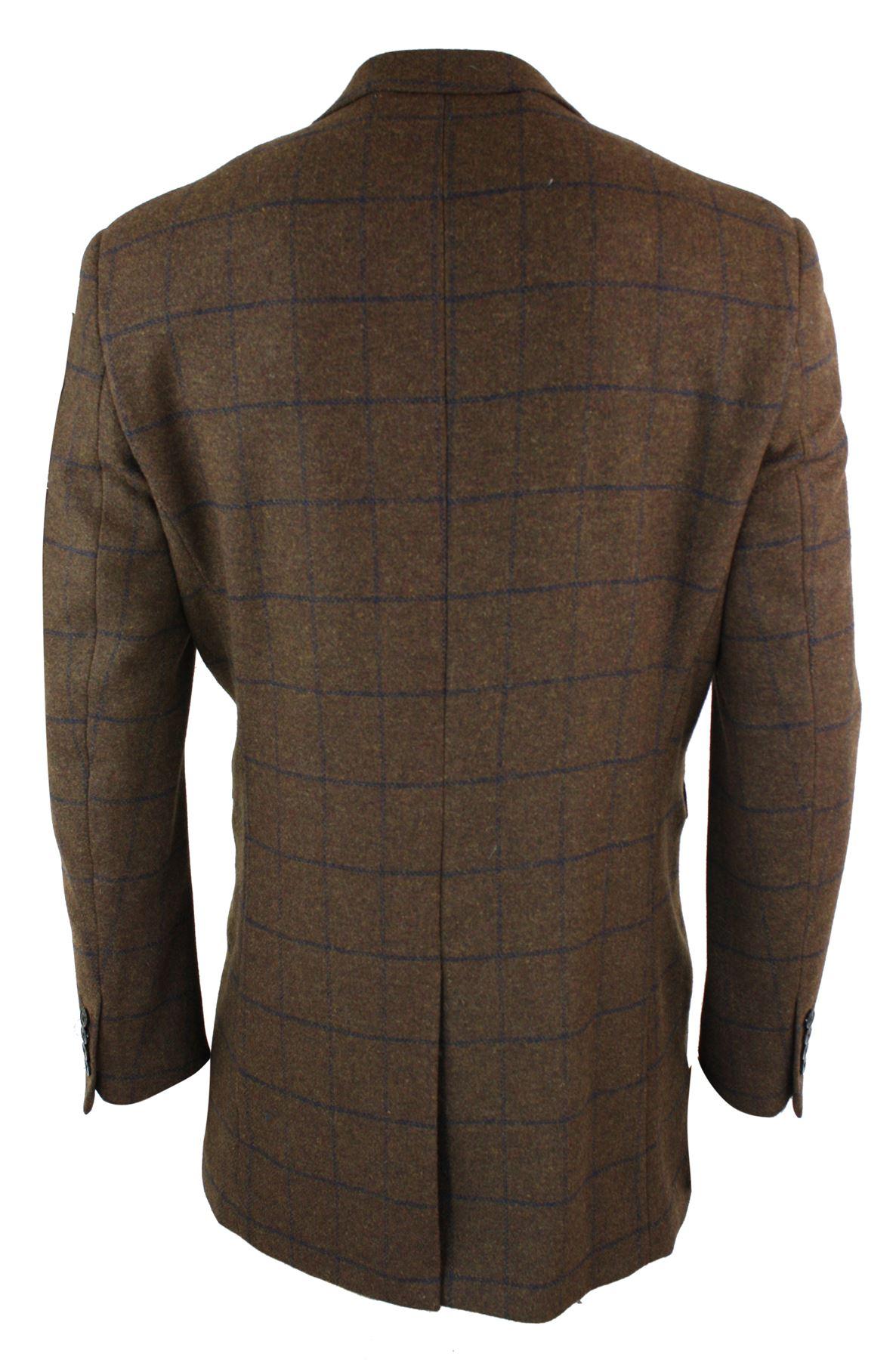 Manteau homme longueur 3//4 tweed style Peaky Blinders vintage à carreaux