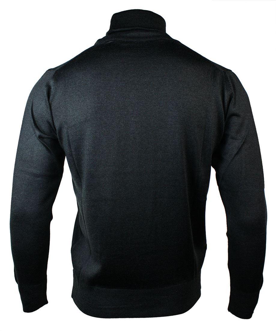 Pull homme sweat léger coupe slim à col roulé laine mélangée