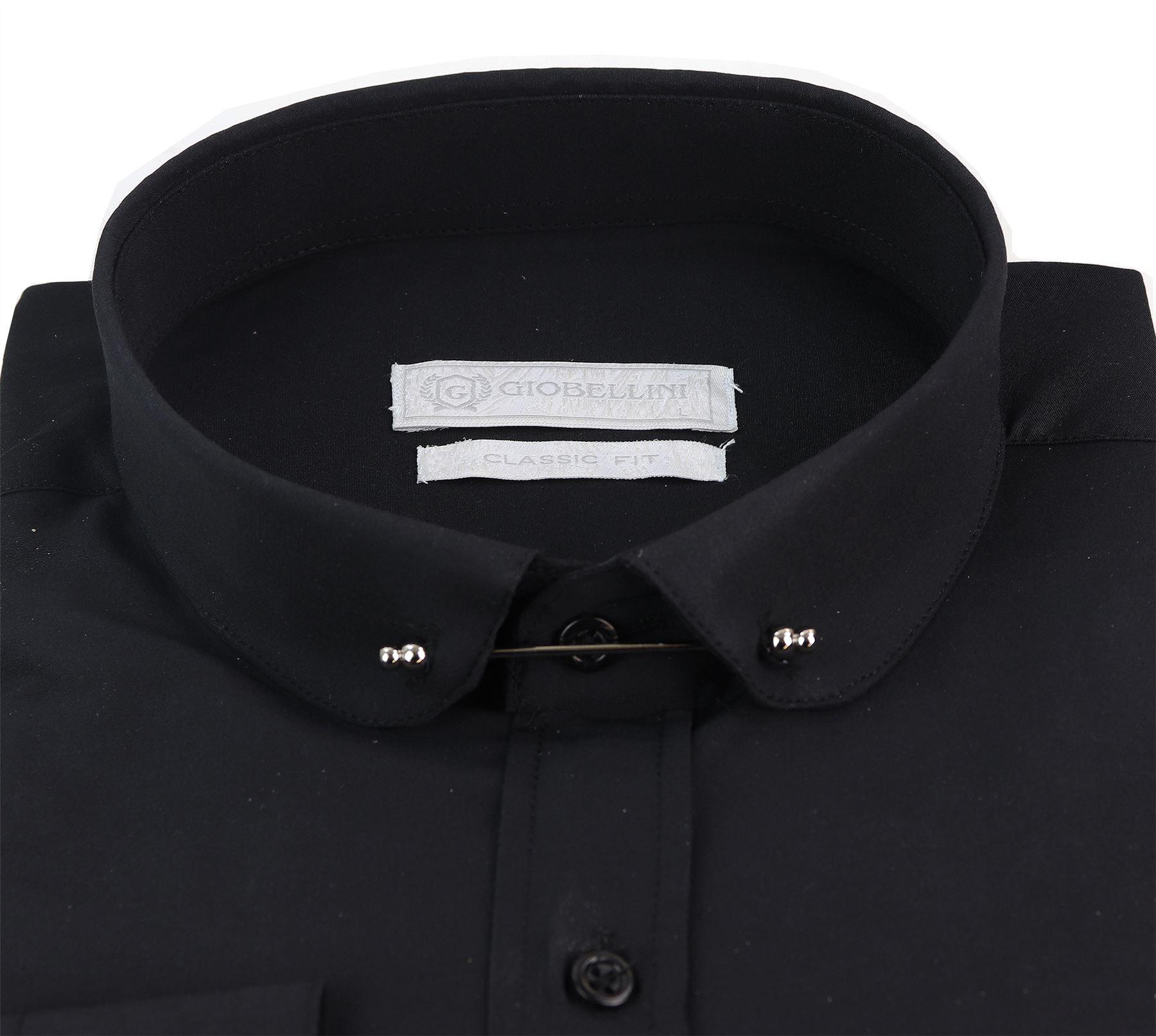 Homme Club col chemise avec barre popeline PIN BLANC NOIR 1920 S patraque oeillères