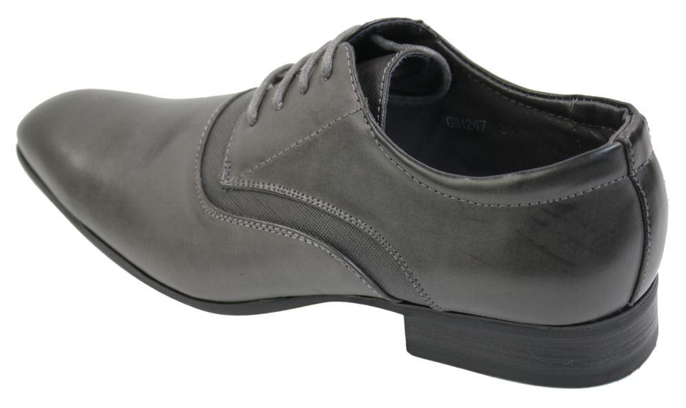 Homme gris noir tan chaussures en cuir marron Dentelle Bureau Smart formelle classique