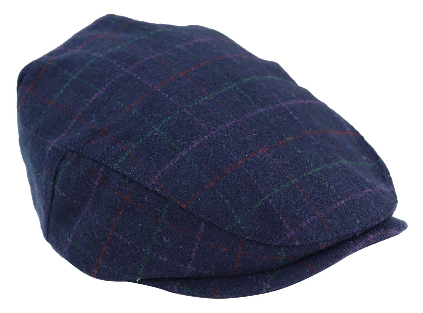 Kids Childrens Grandad Hat Flat Cap Wool Vintage Peaky Blinders Elasticated