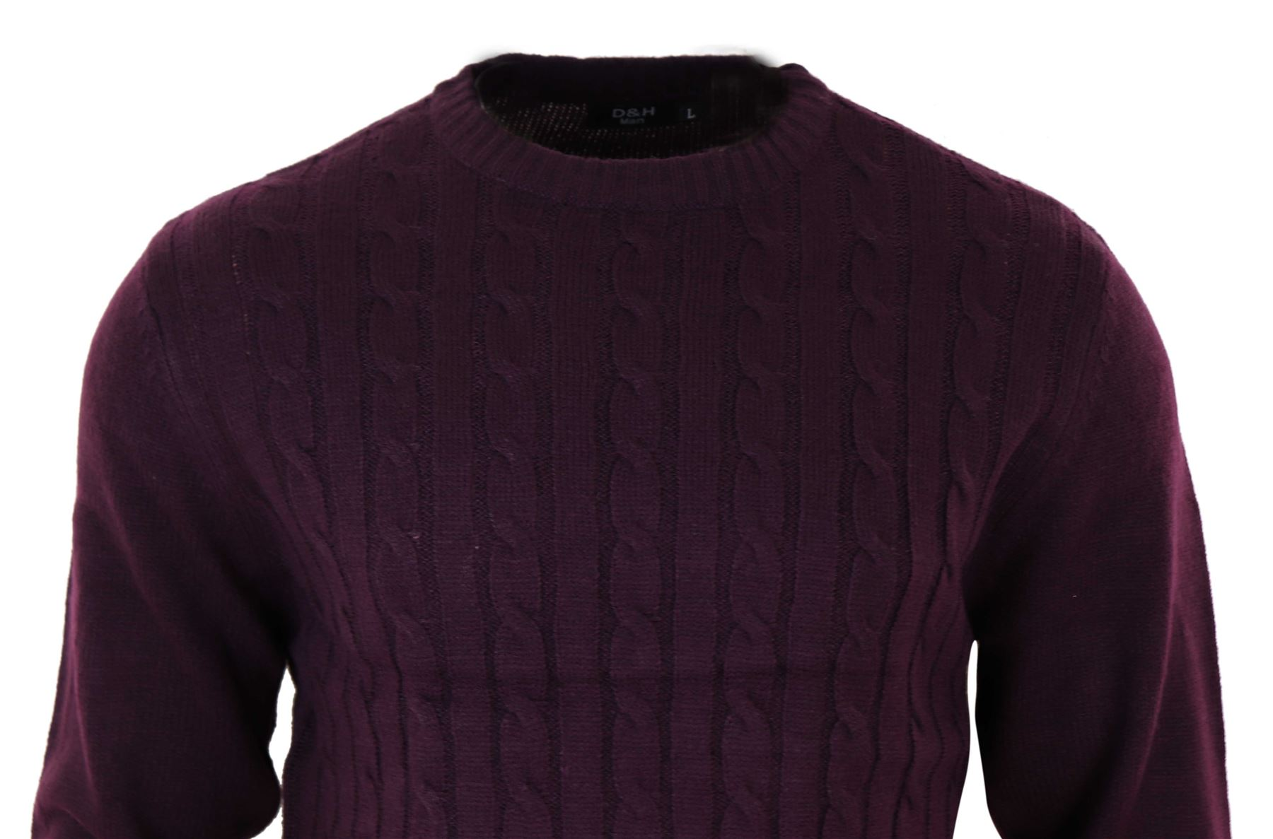 Mens Knitted Wool Feel Smart Casual Tailored Fit Jumper Top