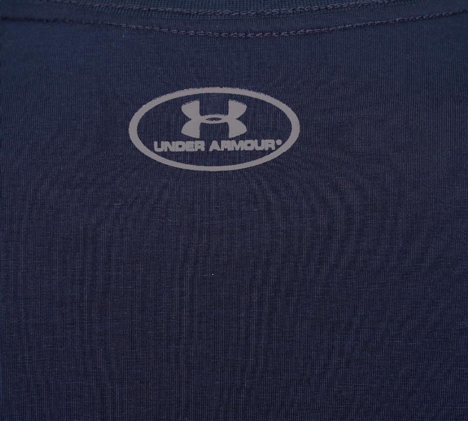 Mens Under Armour Sport Style Logo Short Sleeve Shirt Black White Grey Navy S-XL