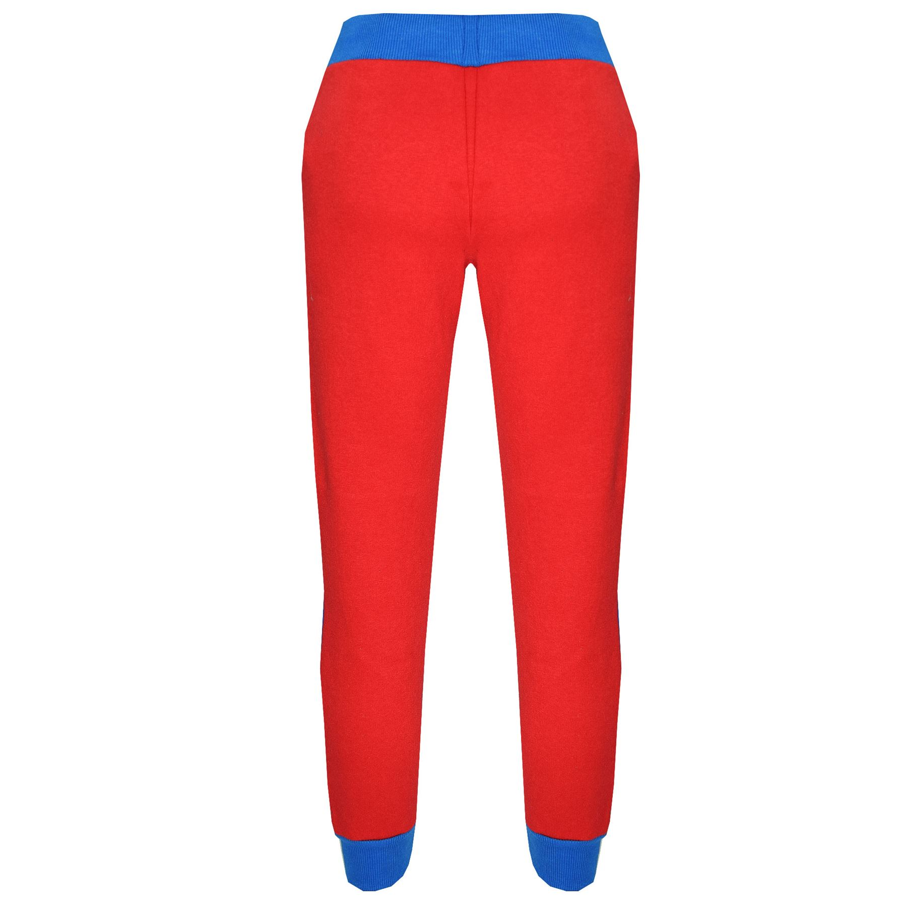 Boys Girls Jogging Suit Kids Designer/'s Red /& Blue Tracksuit Zipped Top /& Bottom