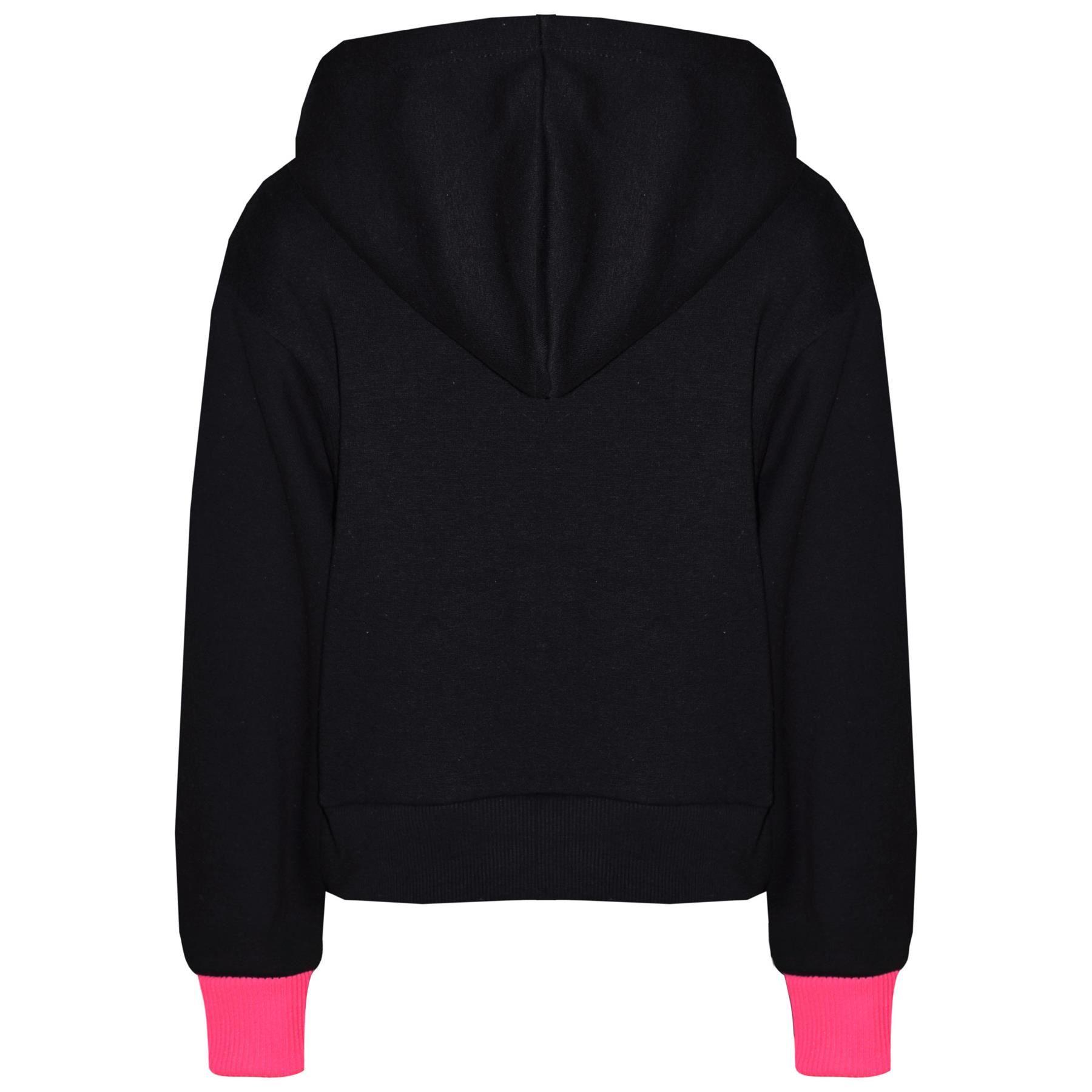 Kids Girls Jogging Suit Designer #Floss Hooded Crop Top Bottom Tracksuit 5-13Yr