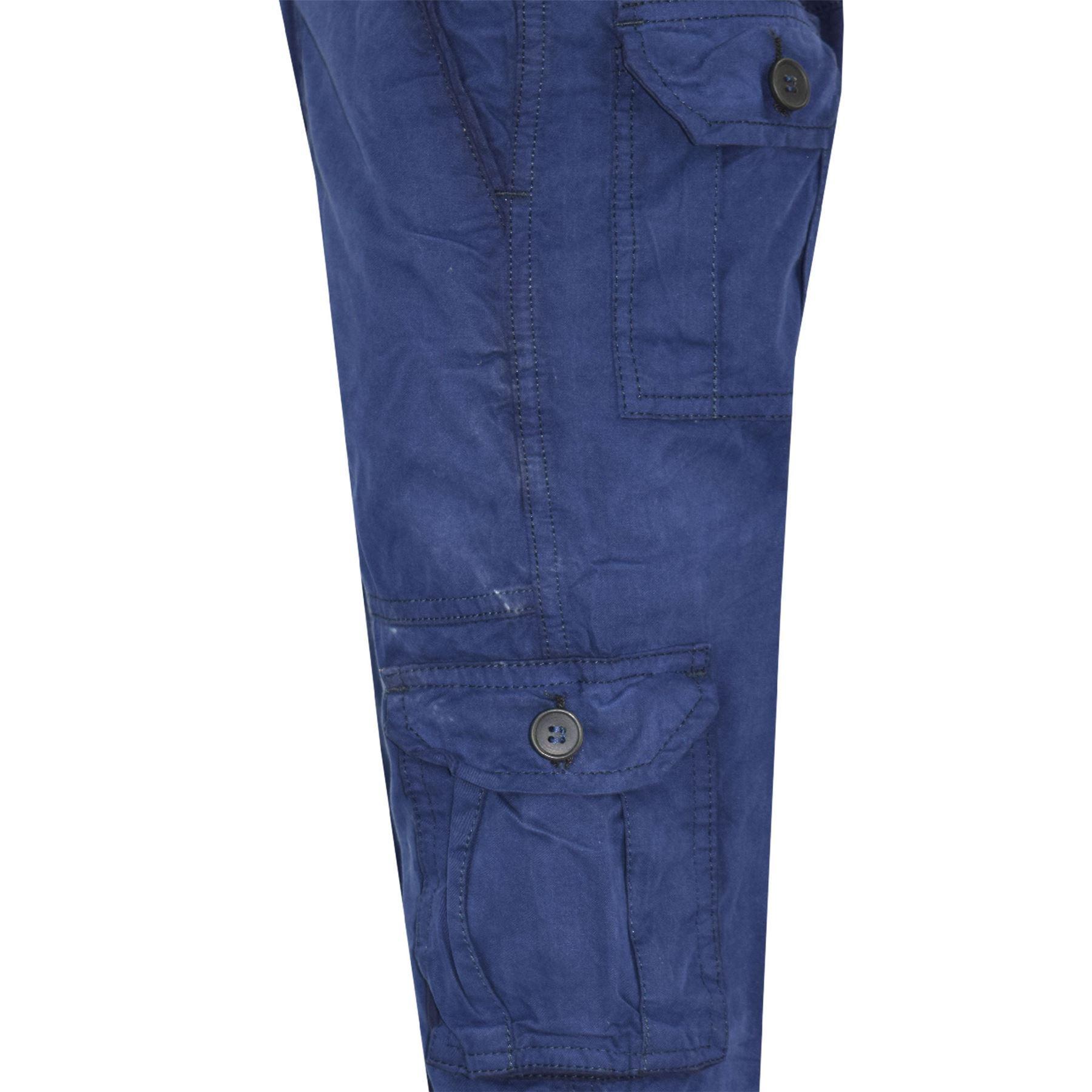 Bambini Ragazzi Giovanile BDU Ranger 6-Tasca Pantaloni Cargo Combat Blu Scuro Moda Pantalone 5-13