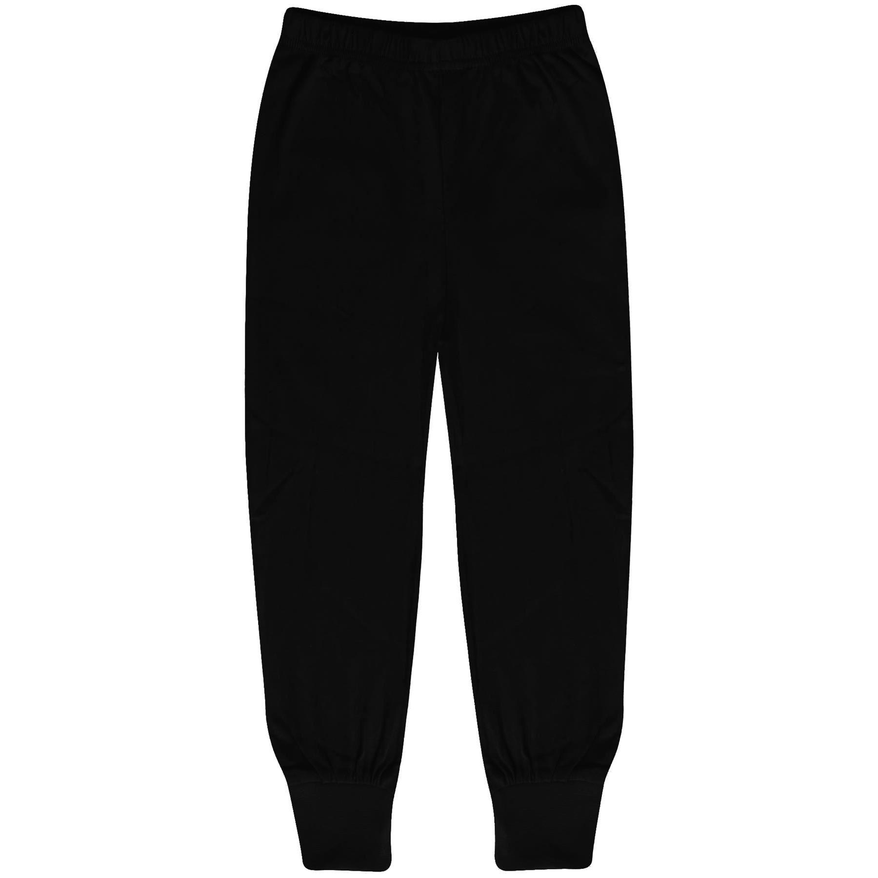 Kids Boys Girls Pyjamas Black Trendy Floss A2Z Print Christmas Loungewear Outfit