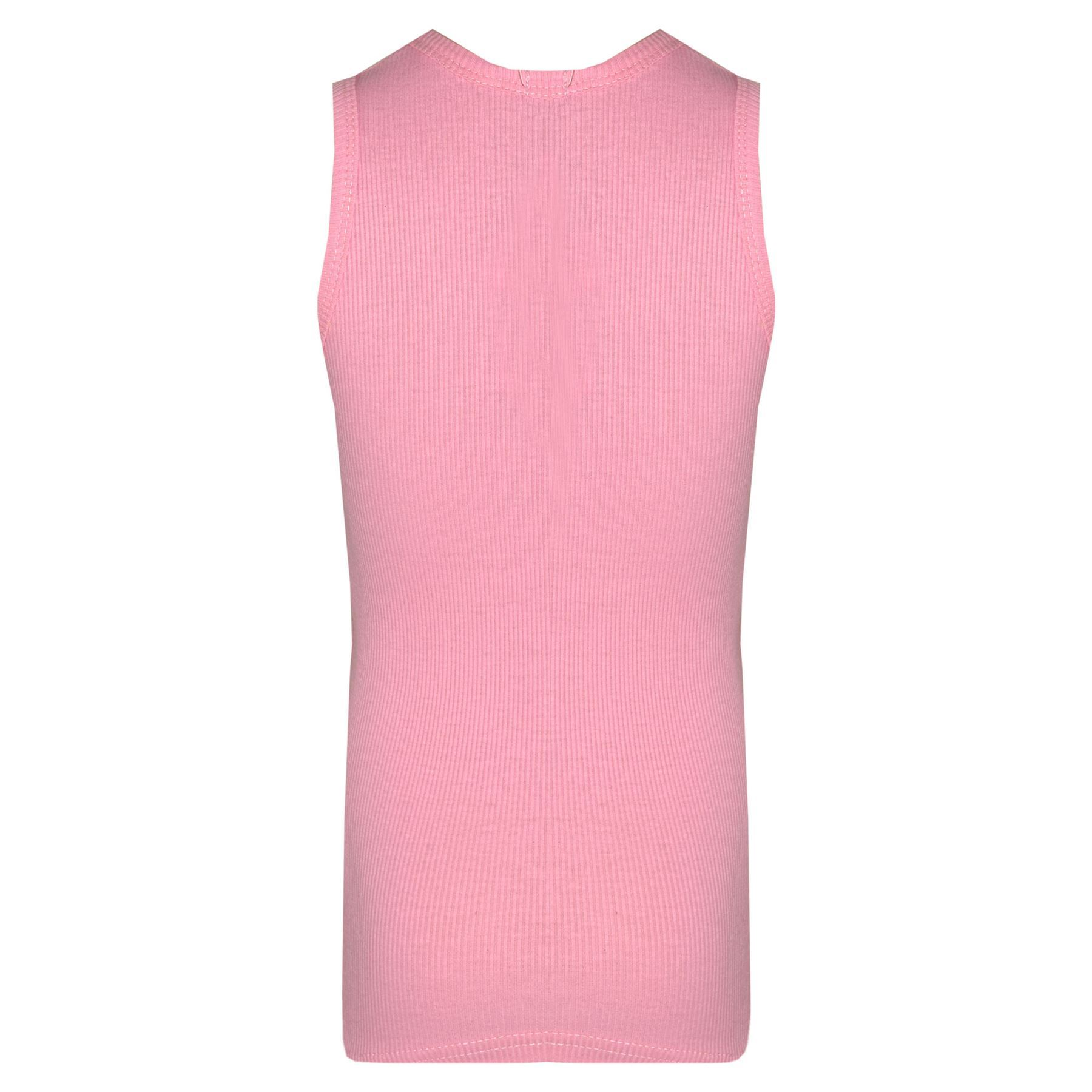 Kids Girls Ribbed Vest Top 100/% Cotton Fashion Tank Tops T Shirt New Age 5-13 Yr