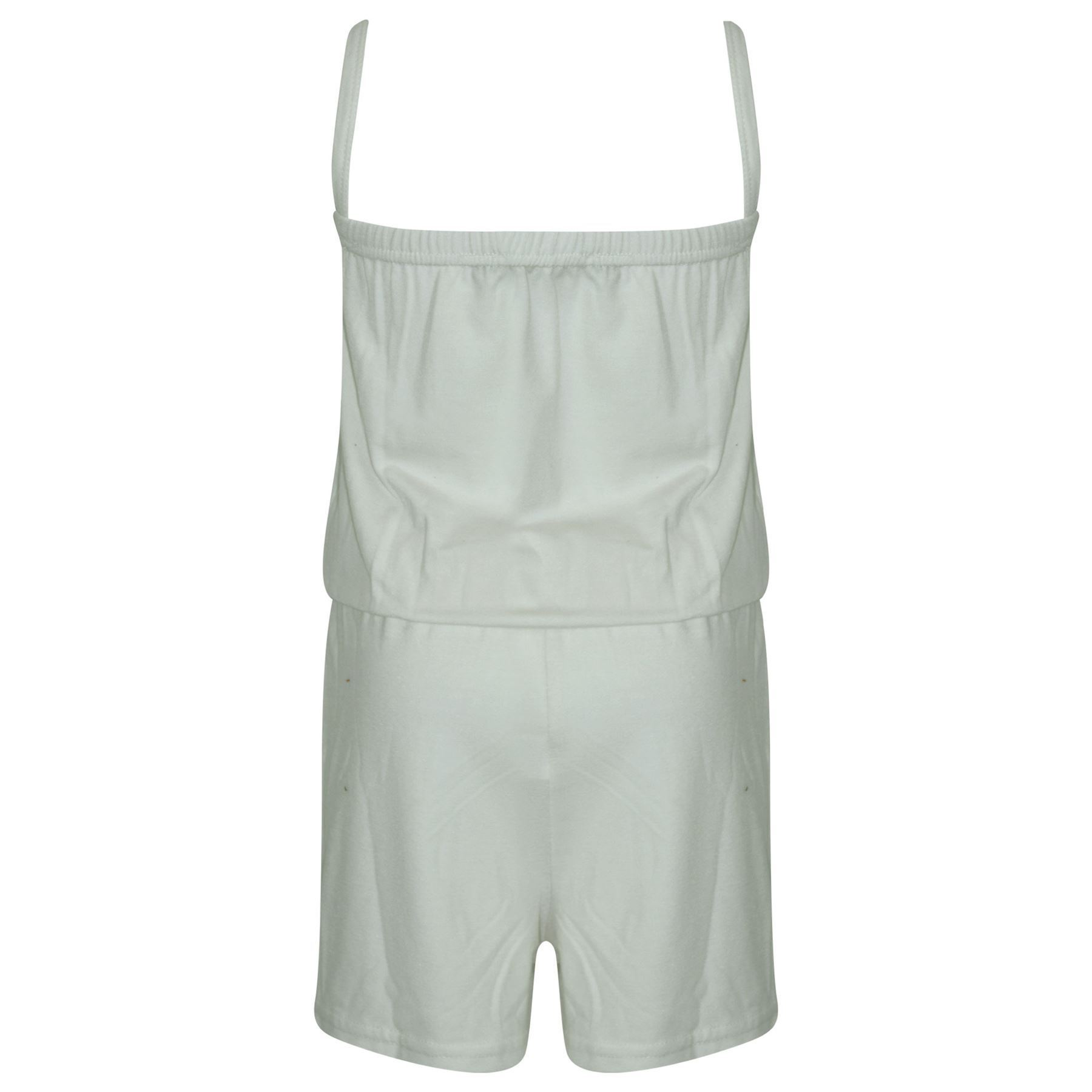 Girls Jumpsuit Kids Plain Color Trendy Playsuit All In One Jumpsuits 5-13 Years