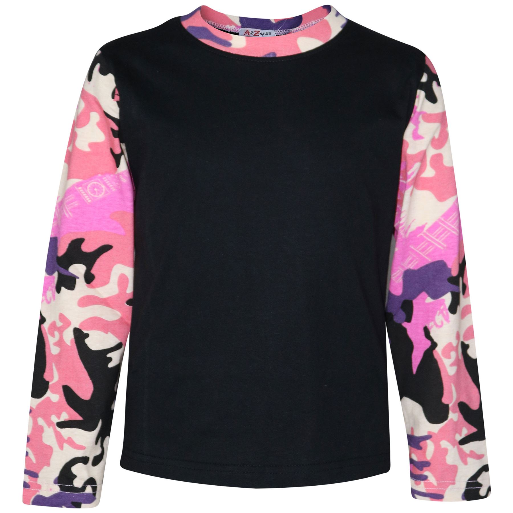 Enfants Filles Garçons Pjs Contraste Couleur Unie Style Pyjamas Set New Age 2-13 Ans