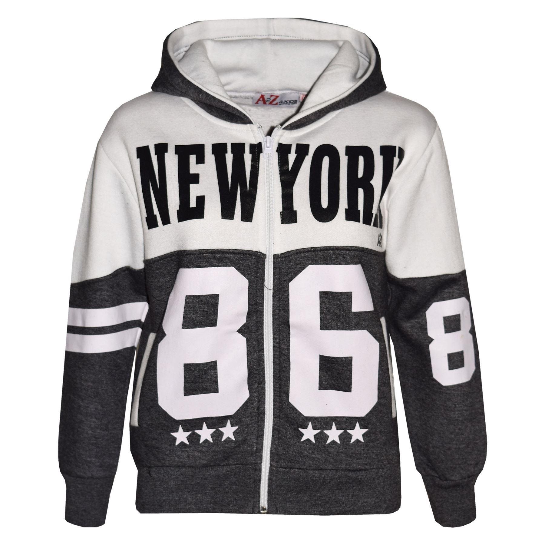 Kids Tracksuit Boys Girls Designer/'s  New York 86 Print Jogging Suit 7-13 Years
