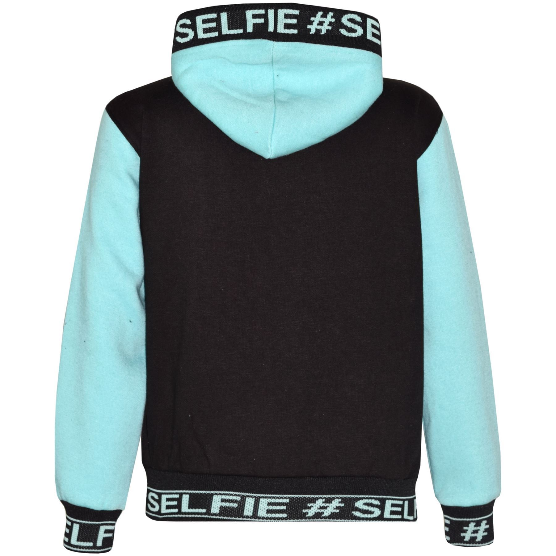 Kids Girls Boys Tracksuit Designer #Selfie Embroidered Top /& Bottom Jogging Suit