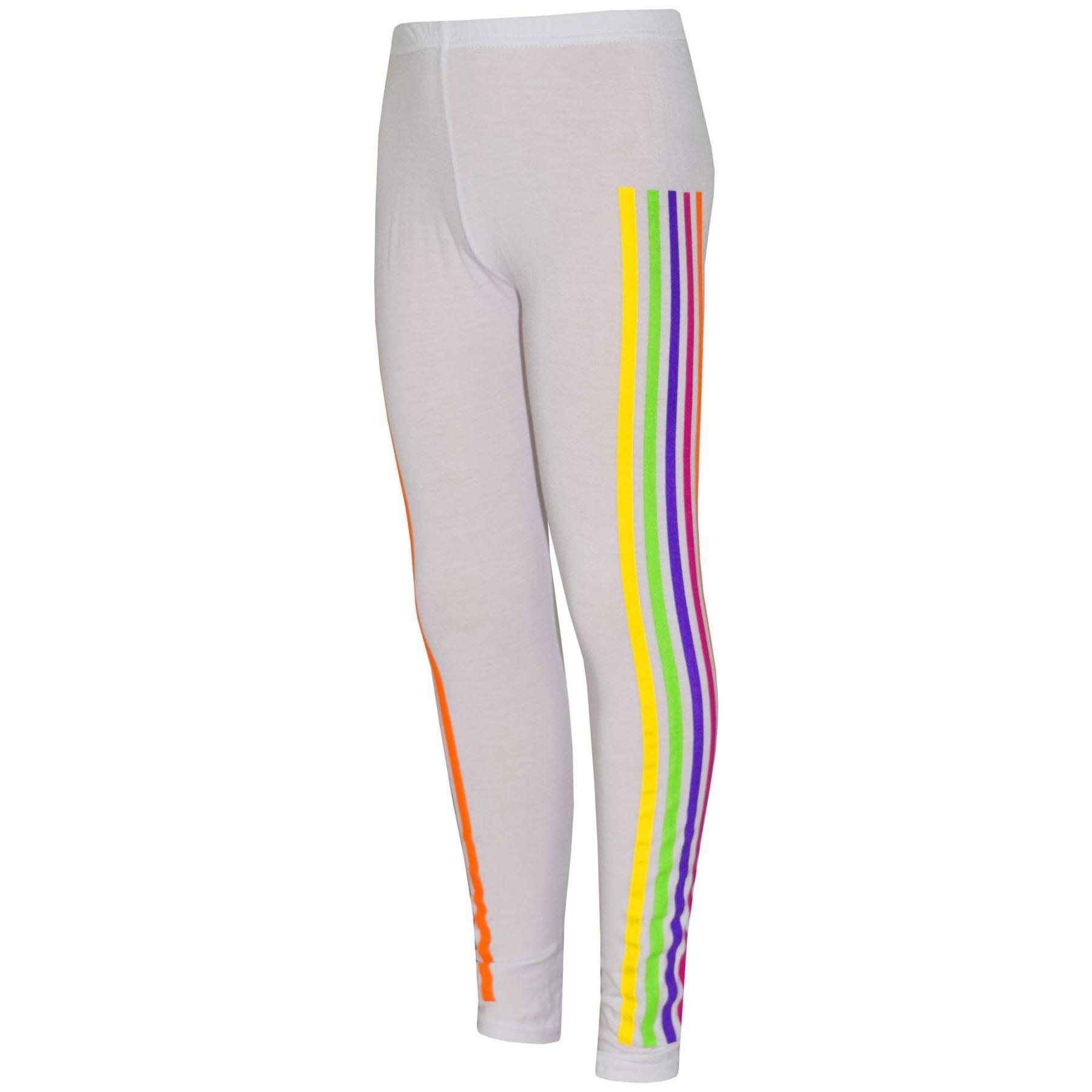 Kids Girls Rainbow Unicorn Dab Floss White Top /& Legging Outfit Set Age 7-13 Yrs