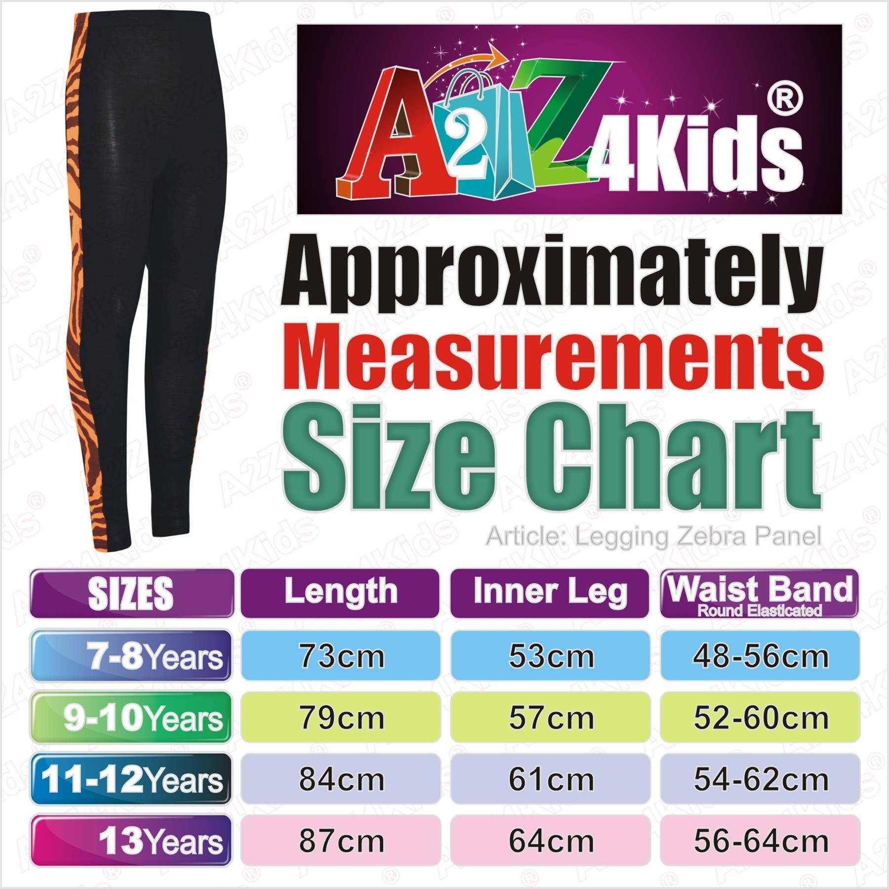 Enfants Filles Legging zèbre avec empiècements Legging Trendy Party Fashion Danse Pantalon 7-13Y